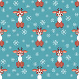 Cute fawn pattern Royalty Free Stock Images