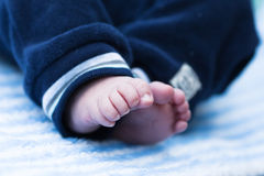 Cute feet of a baby Royalty Free Stock Images