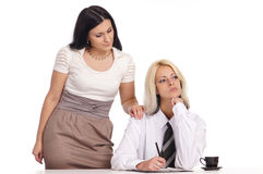cute female couple Royalty Free Stock Image