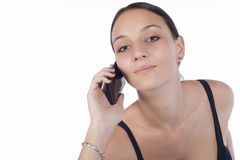 Cute female executive using mobile phone Royalty Free Stock Image