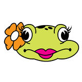 Cute Female Frog. A head of a cute stylish female frog Stock Photography