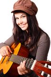 Cute, Female, Girl, Guitar Royalty Free Stock Image