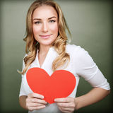 Cute female in love Stock Images
