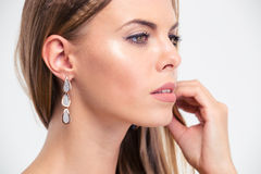 Cute female model looking away Royalty Free Stock Photo