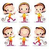 Cute female monkey. Cartoon illustration of Cute monkey female Royalty Free Stock Photography