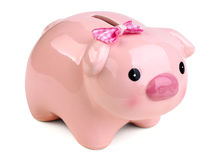 Cute female piggy bank royalty free stock image