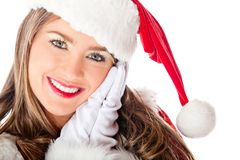 Cute female Santa Royalty Free Stock Photos