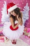Cute female santa claus Stock Image