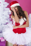 Cute female santa claus Royalty Free Stock Images