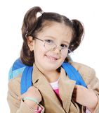 Cute female school Royalty Free Stock Image