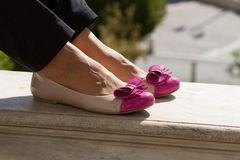 Cute female shoes Royalty Free Stock Photo