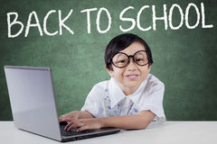 Cute Female Student Back to School Royalty Free Stock Images