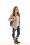 Cute female student in studio Stock Image
