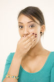 Cute female surprised expression Royalty Free Stock Image