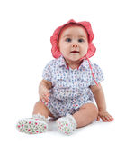 Cute female toddler stock photos