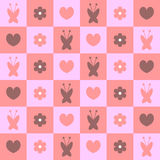 Cute feminine seamless pattern Royalty Free Stock Photos