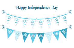 Cute festive bunting flags with traditional Jewish star for Israel Independence Day. Can be used as flyer, poster, banner or card Royalty Free Stock Photography