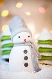 Cute festive snowman Royalty Free Stock Photography