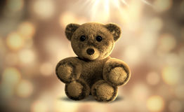 Cute festive teddy bear 3d render. Graphic illustration Stock Photos