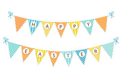 Cute festive vintage Easter bunting flags for your decoration. Cute festive vintage Easter bunting flags with text for your decoration Royalty Free Stock Photography