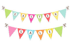 Cute festive vintage Easter bunting flags for your decoration. Cute festive vintage Easter bunting flags with text for your decoration Royalty Free Stock Image