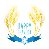 Cute festive wreath Happy Shavuot Stock Photography