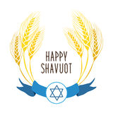 Cute festive wreath Happy Shavuot Royalty Free Stock Images