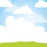 Cute field landscape icon Stock Image