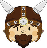 Cute Fierce Viking Warrior. Adorably Cute Fierce Little Norse Viking Warrior Head - Vector Illustration Royalty Free Stock Photography