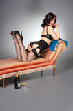 Cute fifties pin-up Royalty Free Stock Images