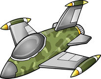 Cute Fighter Jet Aircraft. Illustration Vector Art Stock Photography