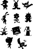Cute Figures. Illustrations vector cartoon of Cute Figures Royalty Free Stock Photos