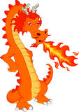 Cute fire dragon cartoon Royalty Free Stock Images