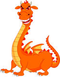 Cute fire dragon cartoon Stock Image