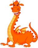 Cute fire dragon cartoon. Illustration of cute fire dragon cartoon Stock Image