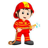 Cute fireman cartoon royalty free illustration