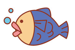 Cute fish Stock Image