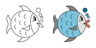 Cute fish Royalty Free Stock Images