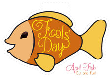 Cute Fish for April Fools' Day Prank, Vector Illustration Stock Images