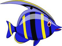 Cute fish cartoon stock illustration