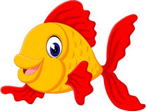 Cute fish cartoon. Illustration of cute fish cartoon Royalty Free Stock Images