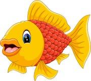 Cute fish cartoon. Illustration of cute fish cartoon Stock Photos