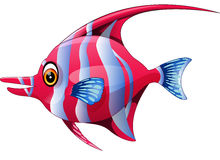 Cute fish cartoon. Illustration of Cute fish cartoon Royalty Free Stock Image
