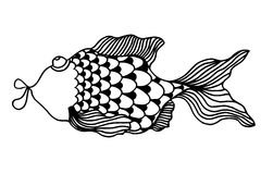 Cute fish cartoon Royalty Free Stock Image