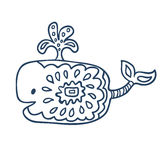 Cute fish cartoon, line art, coloring Royalty Free Stock Image