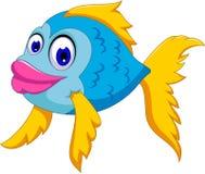 Cute fish cartoon posing Royalty Free Stock Photos