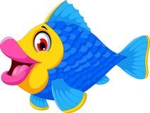 Cute fish cartoon swimming. Illustration of cute fish cartoon swimming Royalty Free Stock Photos