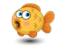 Cute Fish cartoon vector. On white background Stock Photography