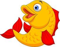 Cute Fish Cartoon Waving Royalty Free Stock Photography