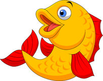 Cute fish cartoon waving Royalty Free Stock Photography